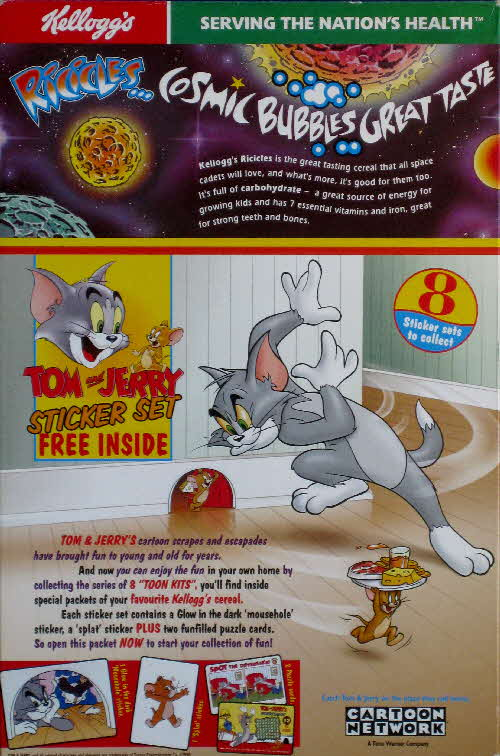 1998 Ricicles Tom & Jerry Sticker set