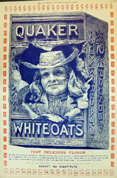 1897 Quaker Oats 3D type advert