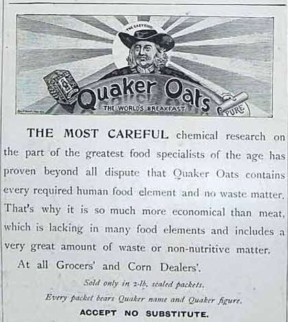 1897 Quaker Oats Advert