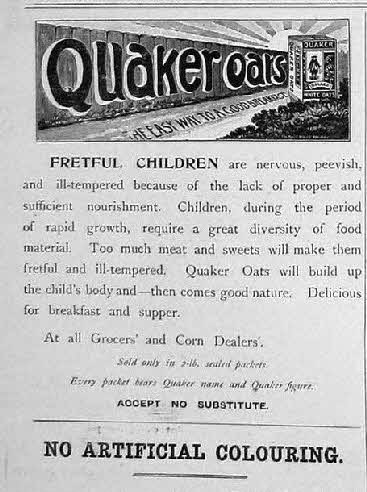 1898 Quaker Oats Advert