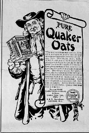 1901 Quaker Oats Advert