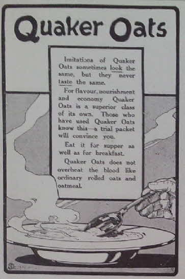 1910 Quaker Oats Advert
