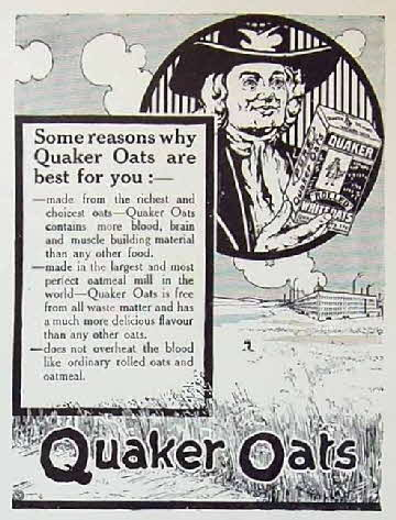 1910 Quaker Oats Advert1