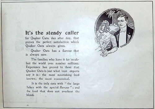 1910 Quaker Oats Ladies Advert