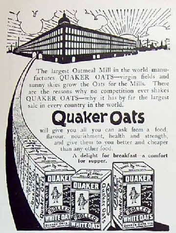 1910 Quaker Oats Mill Advert