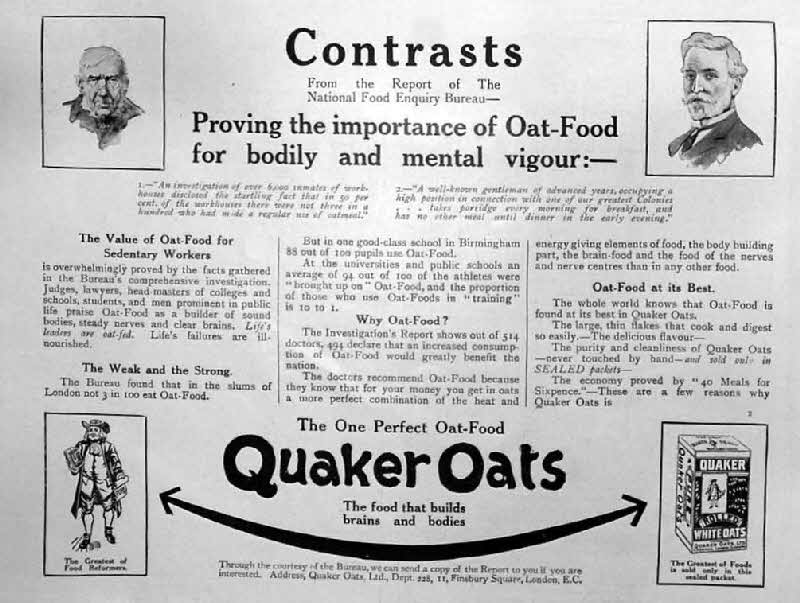1911 Quaker Oats Advert