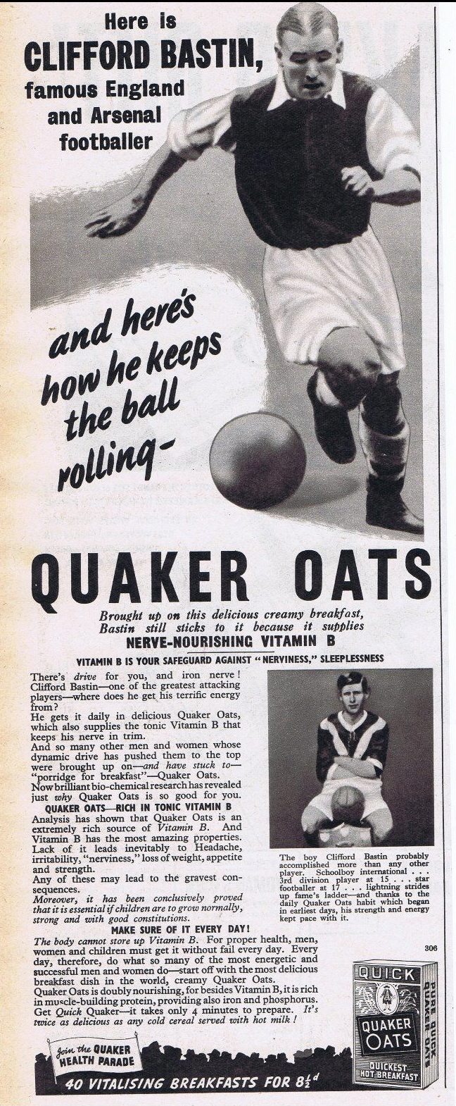 1938 Quaker Oats advert