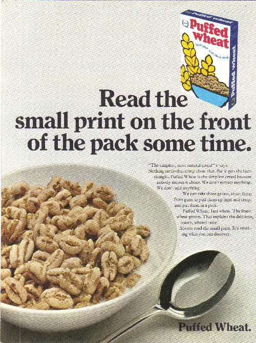 1969 Puffed Wheat Small Print