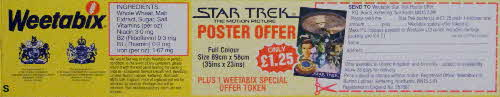1980 Weetabix Star Trek Motion Picture poster form